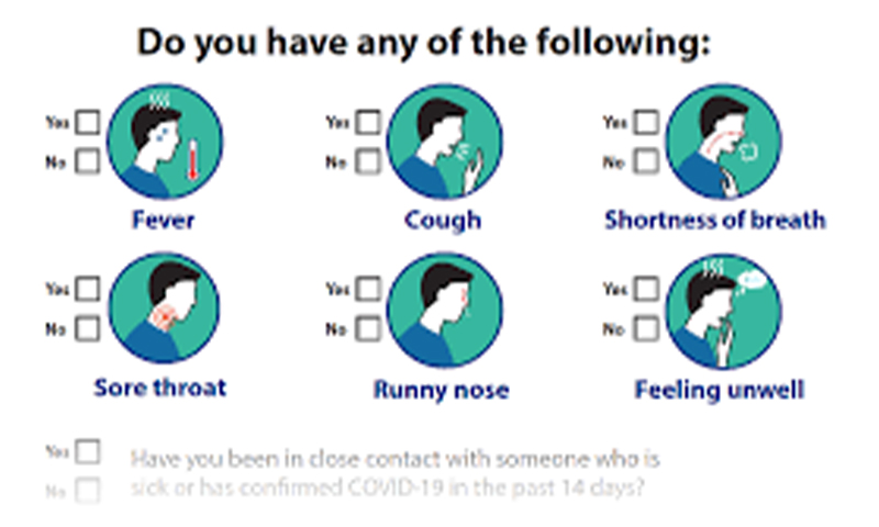 Covid screening questionnaire